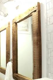 distressed wood frames wooden reclaimed mirror frame 11x14