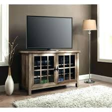 stand with glass doors rustic console inch entertainment center media cabinet black tv wooden door