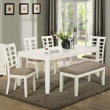 table with bench. kitchen : amazing dining room tables with bench dinette sets wooden white table four chairs one carpet glasses wine vas flowe glass