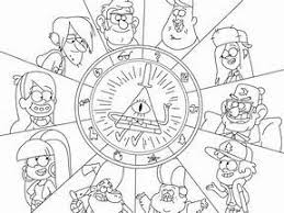 Image Result For Bill Cipher Coloring Pages Gravity Falls