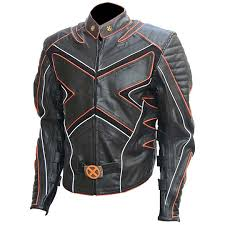 leather wolverine jacket replica of wolverine s leather motorcycle jacket in the x men s