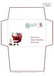 Free Letter From Santa Word Template Free Envelope Template Letter From Printable Santa Word