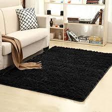 Image Elegant Black Image Unavailable Amazoncom Amazoncom Junovo Ultra Soft Contemporary Fluffy Indoor Area Rugs