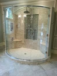custom curved glass shower doors bay glass works portfolio bathroom tiles designs and colors