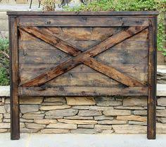 rustic furniture pics. this etsy store is great for rustic furniture and in socal barn door headboard by pics