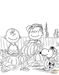 Peanuts Thanksgiving Coloring Pages For Kids With Charlie Brown