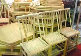 furniture made of bamboo. according facilities handicrafts bamboo items are handmade small compact and furnished generally used in the living room dining at resorts furniture made of