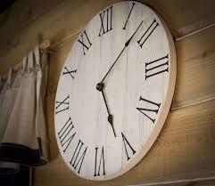 decent rustic clocks umbra size wall clock big red pier time large round digital oversized elegant