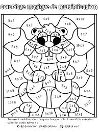 Coloriage Dessiner Magique Multiplication Un Chiffre