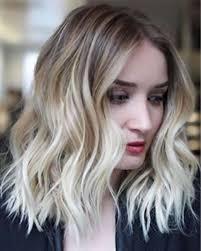 Perfect Halflange Kapsels Voor Vrouwen 2019 Blond Gekleurd