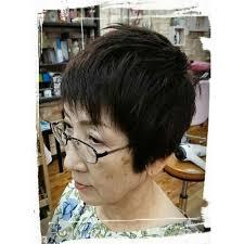 カッコ良いシニアショートスタイル 美人冠ビジンカンのヘア