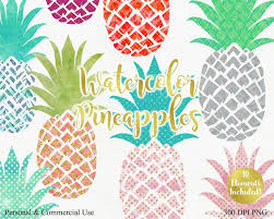 gold pineapple clipart. watercolor pineapple clipart commercial use clip art fun tropical with gold metallic 10 watercolour pineapple