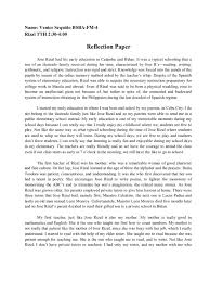 reaction essay example sample essay paper scholarly essay format  rizal reaction paper words