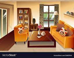 modern living room space vector image