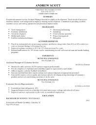 Assistant Manager Resume Samples Assistant Manager Resume Examples