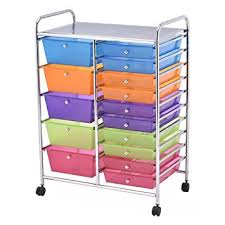 rolling carts for office. Giantex 15 Drawer Rolling Storage Cart Tools Scrapbook Paper Office School Organizer (15 Drawer) Carts For