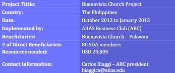 Project Proposal | Buenavista Church Project