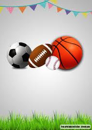 Free Football Invitation Templates Free Printable Sports Themed Birthday Invitation Templates