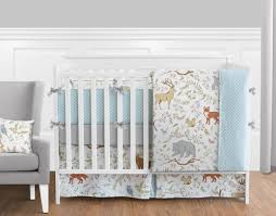 fitted crib sheet for woodland animal