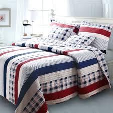 red plaid quilt home fashions nautical stripes bedding