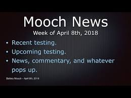 Mooch News Week Of April 8th 2018
