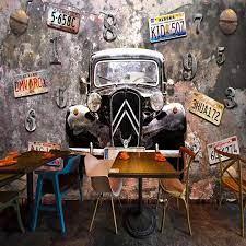 Custom 3D wallpaper mural retro rust ...