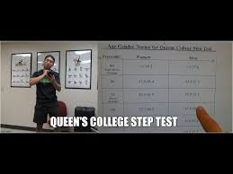 How To Perform Queens College Step Test With Results