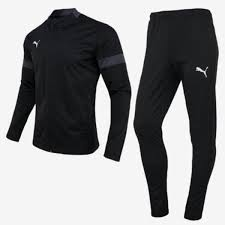 Puma Size Chart Football Shirt Details About Puma Men Football Play Suit Set Black Gray Soccer Jacket Pant Jersey 65647106