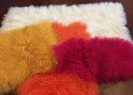 mongolian sheepskin rug home fashion decorative throw long curly sheepskin fur
