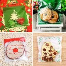 30 Pcs/Lot Christmas Plastic Bags Candy Cooky Bag ... - Vova