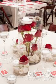 red and white table decorations. Simple To Make Decorations, White Floating Candles On Top For When It Gets Dark. Red And Table Decorations N