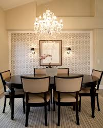 full size of light transitional dining room using crystal chandelier and wallpaper for home decoration ideas