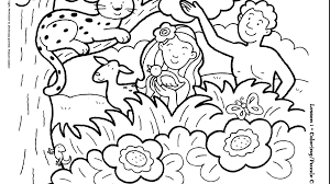 Bible Coloring Pages For Preschoolers Creation Perfect Creation