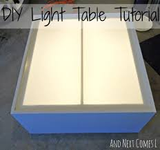 diy light table tutorial made from an old entertainment center from and next comes
