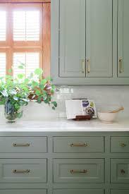 Green Kitchen Cabinet Inspiration Blesser House