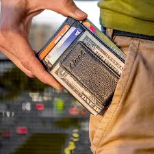 wallet and a money clip