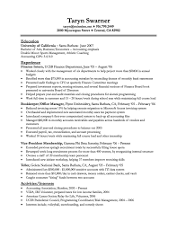 Financial Resumes Examples Examples Of Resumes