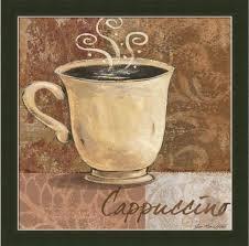 cappuccino wall art kitchen decor