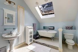 clawfoot tub bathroom ideas. This Bathroom Features A Large Skylight Window, Allowing For Fresh Air And Natural Sunlight To Clawfoot Tub Ideas R