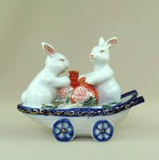 Rabbit Decorative Accessories Online Shop Porcelain Rabbit Couple Figurine Decorative Ceramics 58