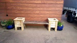 low cost wooden pallet seat and planter boxes
