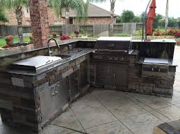Outdoor Kitchen Sinks This Outdoor Kitchen By Outdoor Homescapes Of Houston Features Rcs