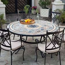 mosaic outdoor dining table for have to it palazetto barcelona 60 in round patio remodel 5
