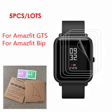 5 pcs <b>TPU Soft Screen</b> Protector For Xiaomi Huami Amazfit GTS ...