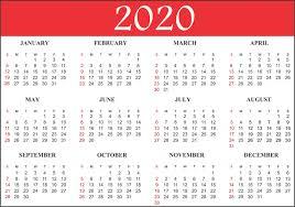 12 Months 2020 Calendar Free Printable Calendar 2020 Template In Pdf Excel Word