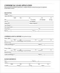 Sample Rental Application Form Stunning Sample Commercial Lease Application Forms 48 Free Documents In PDF