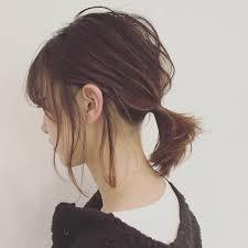 一つ結び簡単可愛いヘアアレンジ特集ストレートも5分でこなれヘア