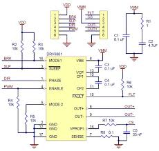 pololu drv8801 single brushed dc motor driver carrier schematic diagram for the drv8801 single brushed dc motor driver carrier