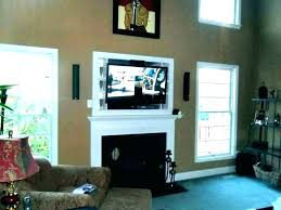 mount over fireplace ideas mounting above hanging tv wall brick