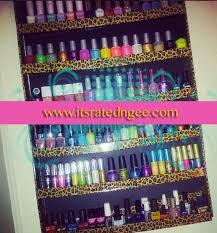 diy nail polish wall display